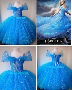 Disney Inspired Cinderella Tutu Dress - Dressing up / Costume in Clothes, Shoes & Accessories, Fancy Dress & Period Costume, Fancy Dress | eBay