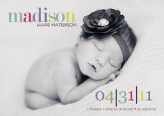 girl birth announcement