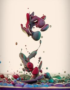 Italian photographer Alberto Seveso once again displays his mastery of high speed photography, this time showing ink mixing with oil in a series called Dropping. High Speed Photography, Water Photography, Ink In Water, Oil Water, Paint Splash, Photomontage, Belle Photo, Photo Art, Cool Art
