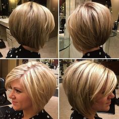Haare 100 Mind-Blowing Short Hairstyles for Fine Hair Rounded Bronde Bob with Layers When Hot Haircuts, Thin Hair Haircuts, Short Bob Haircuts, Graduated Bob Haircuts, Stacked Haircuts, Modern Haircuts, Bob Haircut For Fine Hair, Bob Hairstyles For Fine Hair, Short Hairstyles For Women