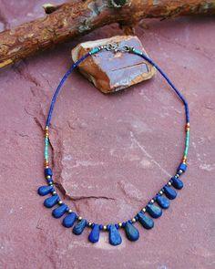 Aghan lapis lazuli necklace,Lapis Lazuli Turquise Ketting, Afghan Necklace, Blue Necklace, Lapis lazuli Necklace, Lapis Lazuli, Etnic Necklace, Etnic, Tribal Gift