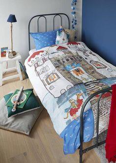 BEDDINGHOUSE Kids dekbedovertrek Beddinghouse Kids Knight Castle Blue