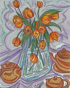 Tulips by MattCervenkaArt on Etsy, $30.00