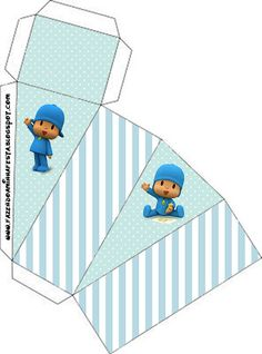 Pocoyó: cajas para imprimir gratis. 17 modelos diferentes. First Birthday Decorations, 2nd Birthday Parties, Oh My Fiesta, Ideas Para Fiestas, Party In A Box, Holidays And Events, Party Time, Diy And Crafts, First Birthdays
