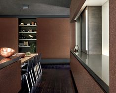 """The wallcovering collection """"Graphite"""" by Omexco comprises endless variations on mica."""
