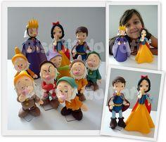 Branca de Neve e os 7 anões by Biscuit da Pati, via Flickr