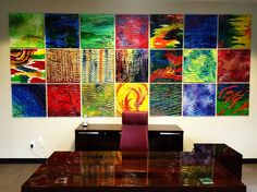 ART WALL captures with its intensity and endless application of painting techniques the force that drives art collectors to buy oil or acrylic paintings solely on the merits of the artwork and not the fame of the painter.  Each tile is a unique work o