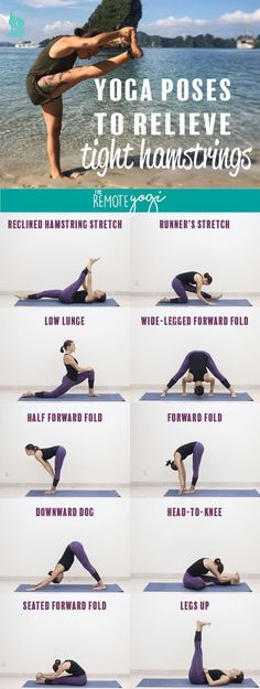 These eight yoga poses are designed to relieve tight hamstrings. Learn more about what causes the hamstrings to feel tight, how to prevent it, and how to use yoga to stretch out the legs.