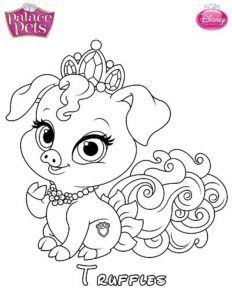 truffles mascota disney dibujo colorear