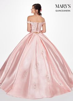 Off Shoulder Ball Gown, Shoulder Dress, Off The Shoulder, Cheap Prom Dresses, Quinceanera Dresses, Formal Dresses, Quinceanera Collection, Pink Evening Dress, Evening Dresses