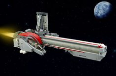Brutal LEGO starfighter punches through space