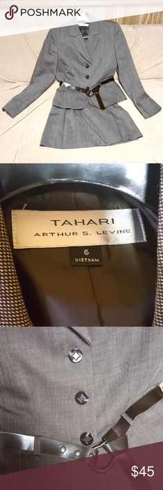 I just added this listing on Poshmark: Brown and Gray Tahari Suit. #shopmycloset #poshmark #fashion #shopping #style #forsale #Tahari #Jackets & Blazers