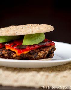 Chipotle Black Bean Burgers - Vegan