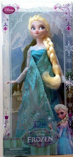 "Frozen Elsa Doll Disney Store Classic 12"" Brand New"