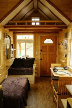 Aarons Craftsman Tiny Home on Wheels using Modified Dan Louche Plans 0011