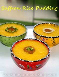 Saffron Rice Pudding Recipe