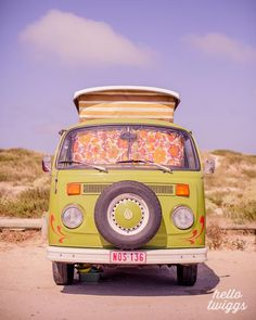 BOGO SALE  Vintage Style VW Van Bus Photography by hellotwiggs, $30.00