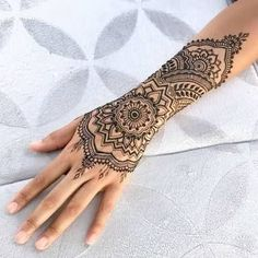 Image result for henna inspired tattoo wrist #tattoos