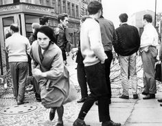 A young woman escaping to Westberlin 1961