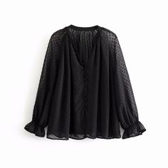 Material:Polyester<br>Material:Polyamide<br>Clothing Length:REGULAR<br>Gender:Women<br>Decoration:Button<br>Fabric Type:Chiffon<br>Pattern Type:Solid<br>Sleeve Length(cm):Full<br>Model Number:LS4052<br>Sleeve Style:lantern Sleeve<br>Collar:V-Neck<br>Style:Casual<br />