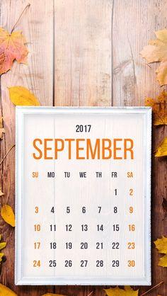 Wallpaper iPhone/calendar September 2017/hello autumn