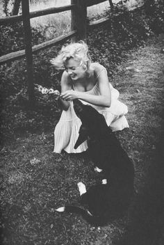 MM and dog friend