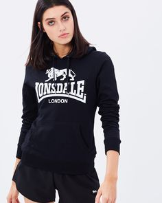 Lonsdale London Kemble Hoodie in Black | The Iconic - $70
