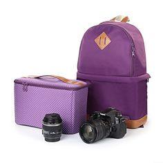 Product Description: Material: Nylon Type : SLR camera bag Color: Blue And Purple External dimensions : 30CM*17CM*42CM  Feature: Size: The External dimension: 30CM*17CM*42CM The Liner Size: 30cm x 14cm x 20cm Design: Camera Backpack Color:Blue Canon 60D, 70D, 100D, 45OD, 500D, 550D, 600D, 650D, 700D, 7D, 6D, 5D2, 5D3 Nikon D90, D3100, D3200, D5100, D5200, D800, D600 Use For DSLR,SLR,Nikon,Canon etc.  Package includes: 1x Nylon DSLR Camera case