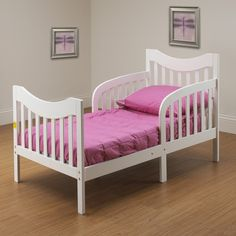 Orbelle Slumberland Toddler Bed in White - Low Toddler Bed, White Toddler Bed, White Bedroom Set, Bedroom Sets, Nursery Furniture, Kids Furniture, Design Your Home, House Design, Beds Online