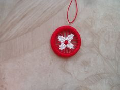 Christmas tree ornament /Dorset buttons/ Home decor/ Handmade/embellishment by elizal73 on Etsy