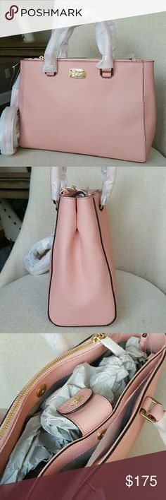 Michael Kors Kellen leather satchel pale pink bag NWT authentic saffiano leather Kellen satchel in pale pink color and gold-tone hardware  (More pictures, detailed description will be added shortly) Michael Kors Bags Satchels