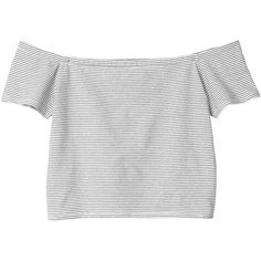 Monki Mirja top (€12) ❤ liked on Polyvore featuring tops, t-shirts, shirts, crop tops, sleek stripes, striped shirt, boat neck t shirt, crop shirts, boat neck shirt and stripe t shirt