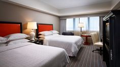 Sheraton Gateway Los Angeles Hotel Traditional Guest Room Double Beds