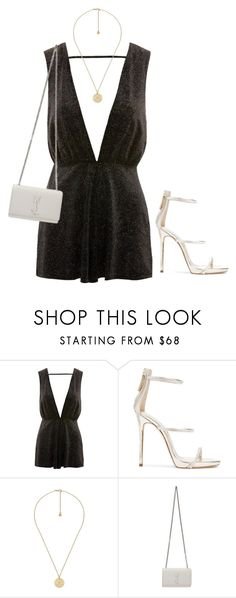 """Untitled #790"" by petitaprenent ❤ liked on Polyvore featuring Topshop, Giuseppe Zanotti, Gucci and Yves Saint Laurent"