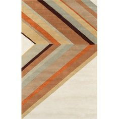 Ultralight Hand-Tufted Brown Area Rug