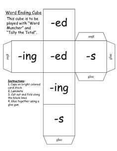 Inflected Endings dealing with Plurals. This is a really neat game that I would love to print out to have in my classroom one day. Student Teaching, Teaching Tips, Teaching Reading, Teaching Phonics, Learning, Spelling Activities, Writing Activities, Vocabulary Games, Writing Ideas