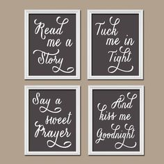 Charcoal Gray Kiss Me Goodnight Quote Crib Chalkboard by trmDesign, $33.00