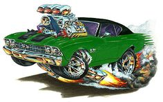 Madd Dogg's Muscle Car Art | Shirt Color - White Gray Shirt Type - Mens Ladies Kids