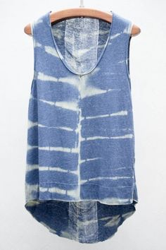tie dye, colors, print top, denim, tank