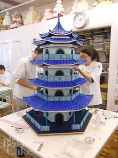 Oriental themed cake - For all your cake decorating supplies, please visit craftcompany.co.uk