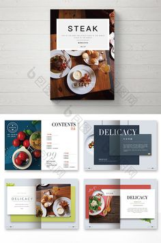 Discover recipes, home ideas, style inspiration and other ideas to try. Food Graphic Design, Food Menu Design, Restaurant Menu Design, Restaurant Identity, Restaurant Restaurant, Brochure Food, Brochure Design, Stationery Design, Food Magazine Layout