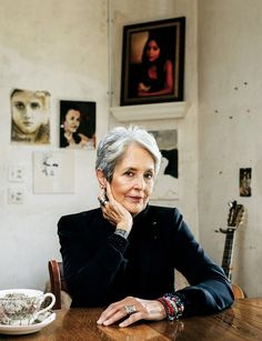 Joan Baez 76 - She opens up about her relationship with Dylan her life in protest how she overcame paralyzing phobias and more at the click. Joan Baez, Folk Music, My Music, Bob Dylan, Old Women, Real Women, Rolling Stones, Women Empowerment, Rock And Roll