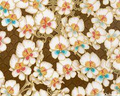 Orchid Garden - Nutmeg/Gold
