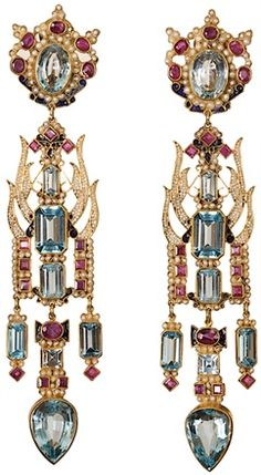 Percossi Papi Chinese pavilion earrings bling