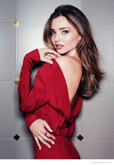 Miranda Kerr Brings Fire and Ice to November 2014 Glamour Russia Shoot