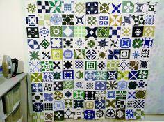 Blue/Green Dear Jane Quilt WiP by KalaBear, via Flickr