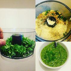 Dwarf basil #homemade #pesto. Was as good as it looks 😋 #culteev #cooking #instafood #basil #basilic