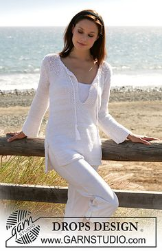 Ravelry: 100-8 tunic in moss stitch pattern by DROPS design