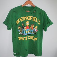 Simpson Destroyed Skate Crew Tee by FoxyRae on Etsy