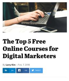 The Top 5 Free Online Courses for Digital Marketers (including Constant Contact's Social Media Quickstarter) School Application, Harvard Business School, Scholarships For College, Business Management, Online Work, Online Courses, Free Courses, Pinterest Marketing, Digital Marketing